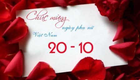 Chúc mừng ngày phụ nữ Việt Nam.