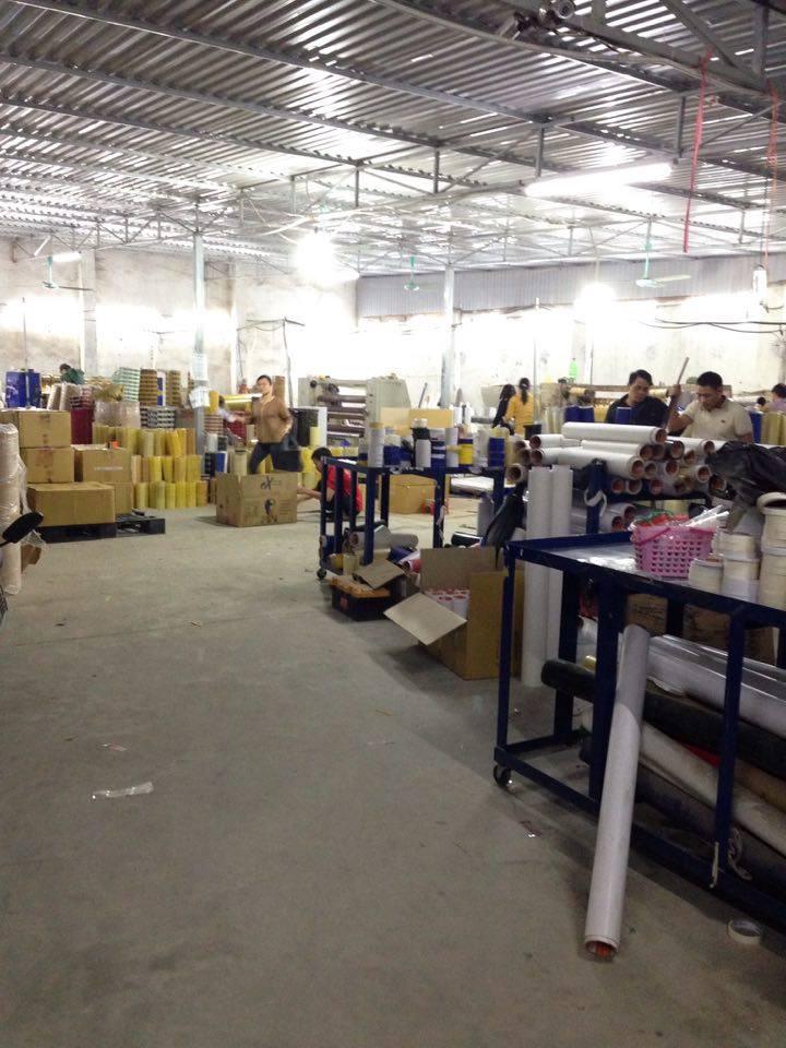Hình ảnh nhà máy sản xuất băng dính Minh Sơ