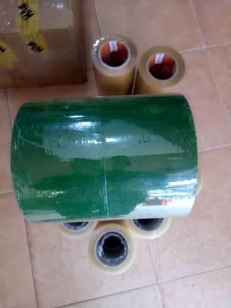 Băng keo lõi nhựa xanh lá