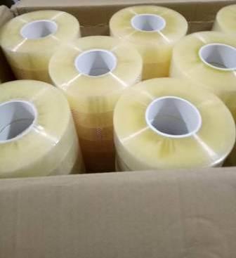 Băng dính trong cuộn lớn 1kg lõi nhựa