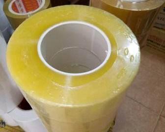 Băng dính trong vàng chanh cuộn lớn 600 gam
