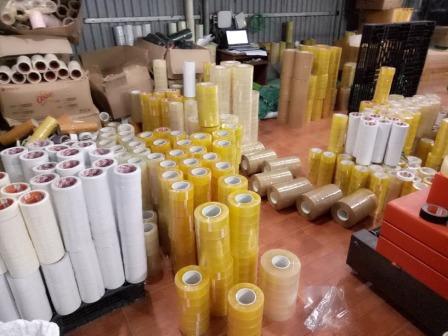 Các sản phẩm băng dính tại xưởng Minh Sơn